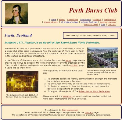 perth burns club